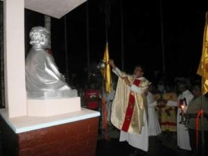 Blessing Don Bosco bust