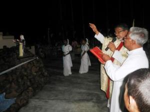 Grotto blessing by Fr Provincial